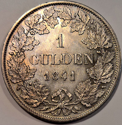 1 (Silber-)Gulden 1841 - Revers