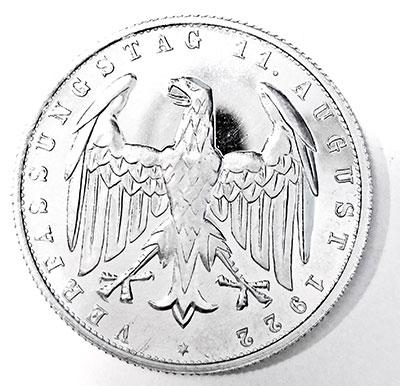 3 Mark 1922 Spiegelglanzprägung - Avers