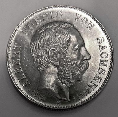 Deutsches Kaiserreich Sachsen: 2 Mark 1902 König Albert