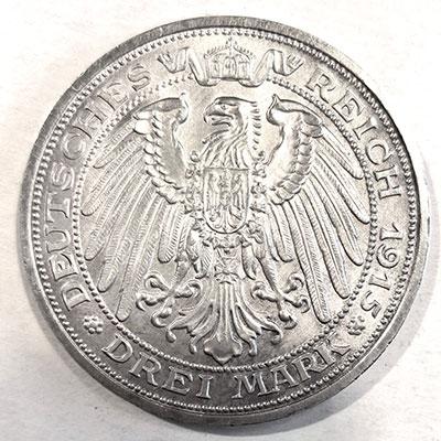 Deutsches Kaiserreich | Großherzogtum Mecklenburg Schwerin 3 Mark Jahrhundertfeier 1915 - Revers