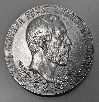 Deutsches Kaiserreich Schwarzburg-Sondershausen: 2 Mark 1905 Fürst Karl Günther - Avers