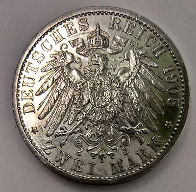 Deutsches Kaiserreich Schwarzburg-Sondershausen:<br/>2 Mark 1905 Fürst Karl Günther - Revers