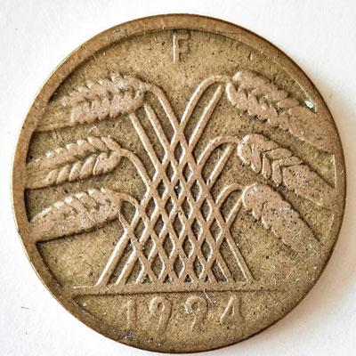 10 Rentenpfennig 1924 - Avers