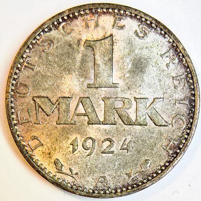 1 Rentenmark 1924 - Revers