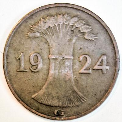 1 Rentenpfennig 1924 - Avers