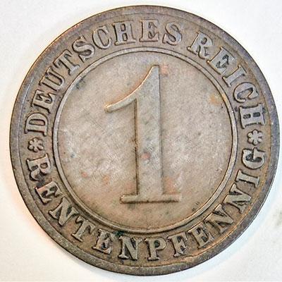 1 Rentenpfennig 1924 - Revers