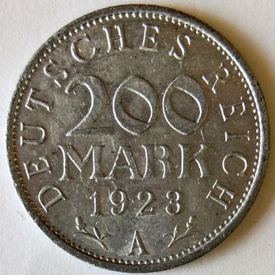 200 Mark 1923 Revers
