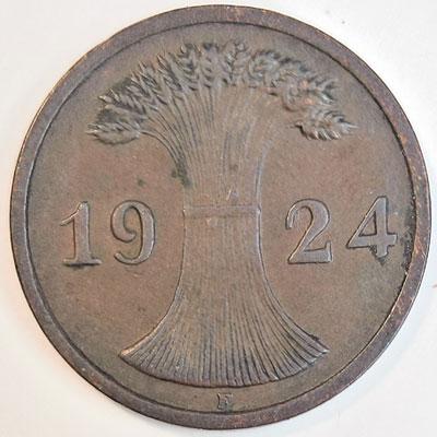 2 Rentenpfennig 1924 - Avers