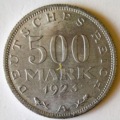 500 Mark 1923 - Revers