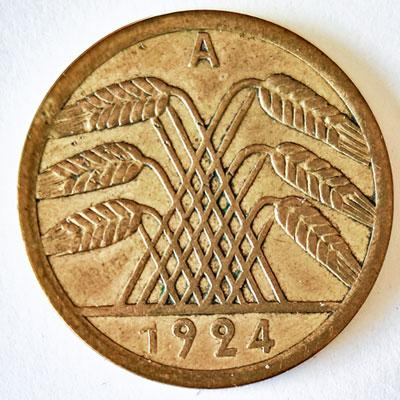 50 Rentenpfennig 1924 - Avers