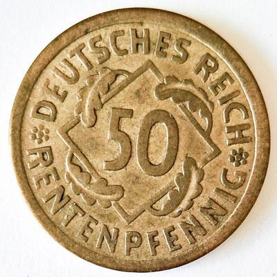 50 Rentenpfennig 1924 - Revers