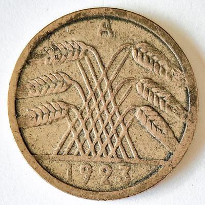 5 Rentenpfennig 1923 - Avers