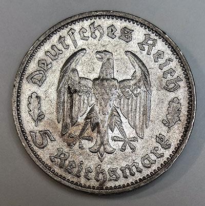 5 Reichsmark 1934 -Schiller - Revers