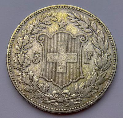 5 Franken 1891 Revers