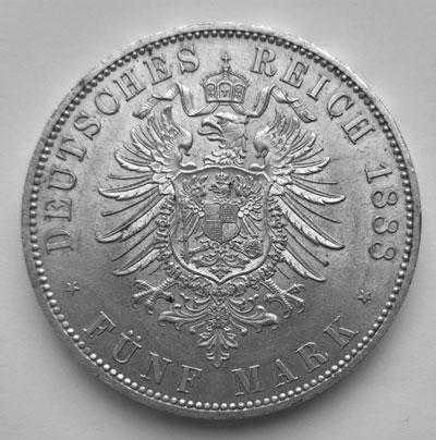 5 Mark 1888-Revers