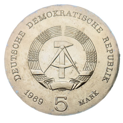 DDR-5-Mark-1969-Revers