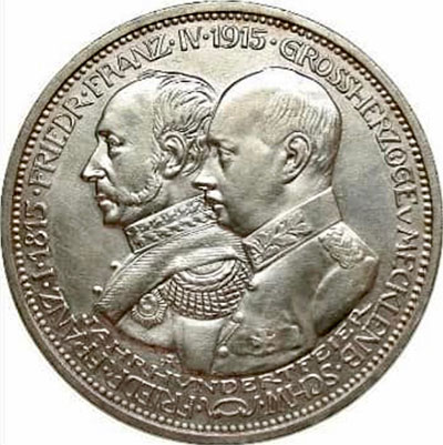 5 Mark Jahrhundertfeier 1915 Avers