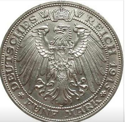 5 Mark Jahrhundertfeier 1915 Revers