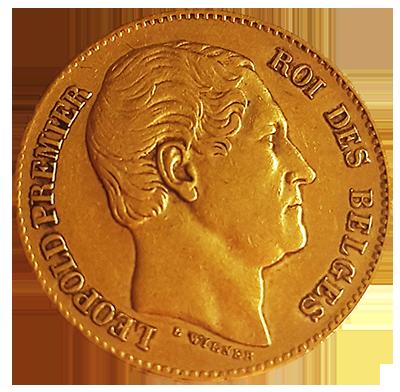 Belgien 20 Francs Gold Avers