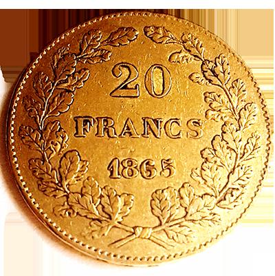 Belgien 20 Francs Gold Revers