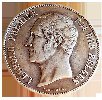 Belgien 5 Francs Silber Avers