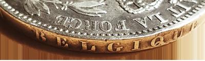 Belgien 5 Francs Silber Rand