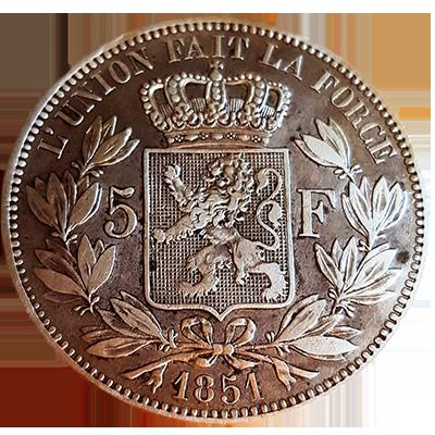 Belgien 5 Francs Silber Revers