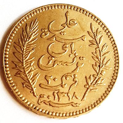 Französisches Protektorat Tunesien-20-Francs-Avers