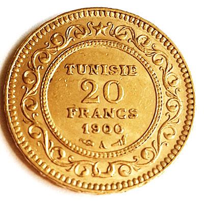 Französisches Protektorat Tunesien-20-Francs-Revers
